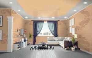 Натяжные потолки со светильниками